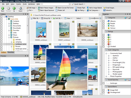 Click to view ACDSee Photo Manager 2009 screenshots