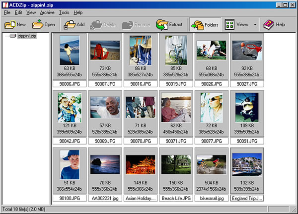 ACDZip is the digital imaging zip software that makes opening zip files easy.