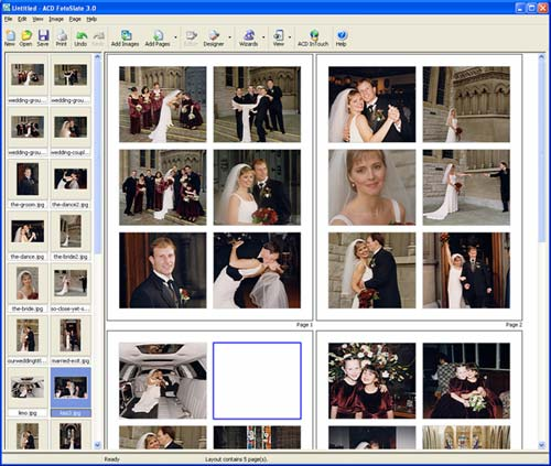 ACD FotoSlate is the easy-to-use photo printing software for home users and professionals. Print photos in popular sizes including 4x6 and 5x7. Make print sheets, albums, calendars, cards and contact sheets. Use pre-made pages or create your own.