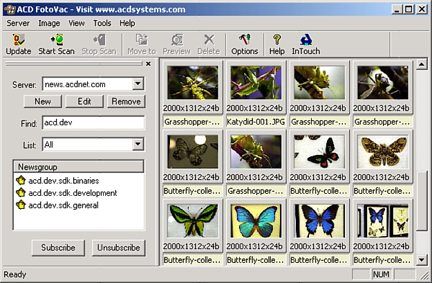 FotoVac is a mass image downloader that downloads pictures from usenet newsgroup