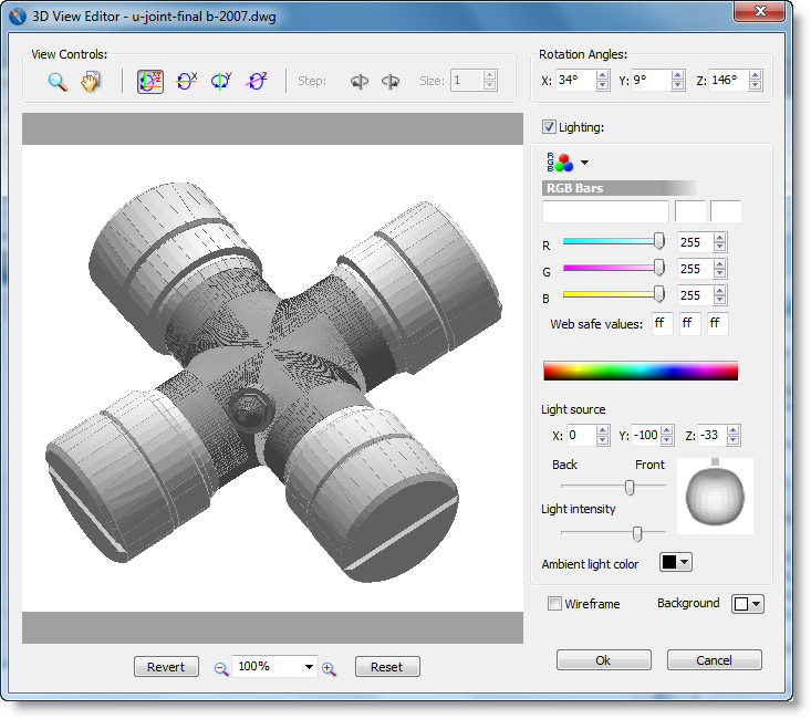 View the 3d object in the 3d view editor for 3d object editor