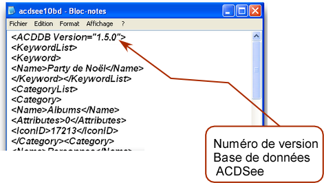 ACDsee DB Version Number